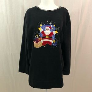 White Stag Fleece Christmas Sweater, Size 16W